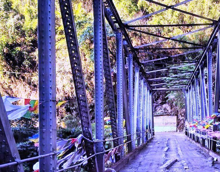 Spiti Valley Motorcycling Holidays typical trussed bridge